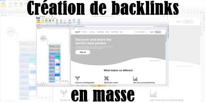 création de backlinks avec zennoposter